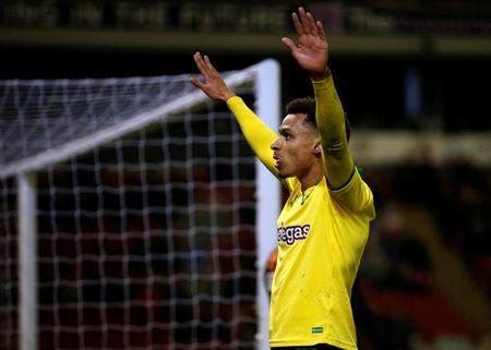 FILE PHOTO: Soccer Football - Championship - Barnsley vs Norwich City - Oakwell, Barnsley, Britain - March 13, 2018 Norwich City's Josh Murphy celebrates scoring their first goal Action Images/Craig Brough