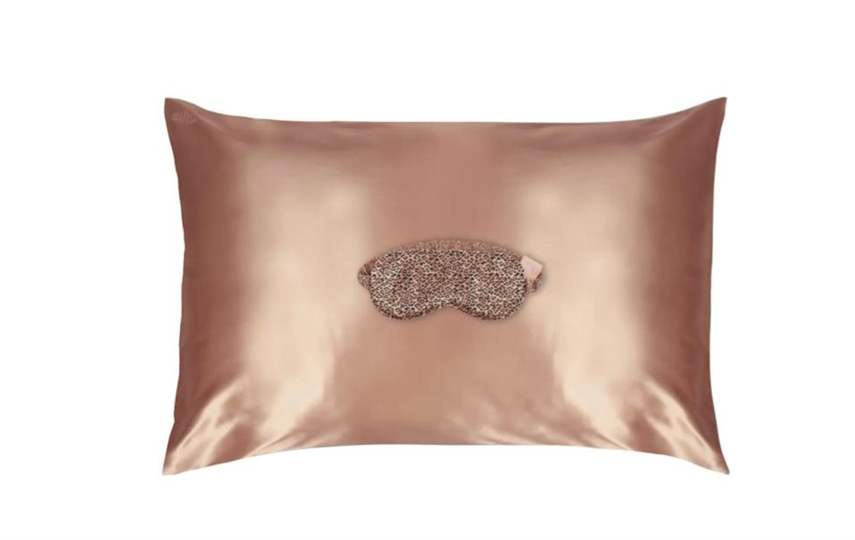 <p><span>Slip Rose Gold &amp; Leopard Print Pillowcase &amp; Sleep Mask Set</span> ($92, originally $122)</p>