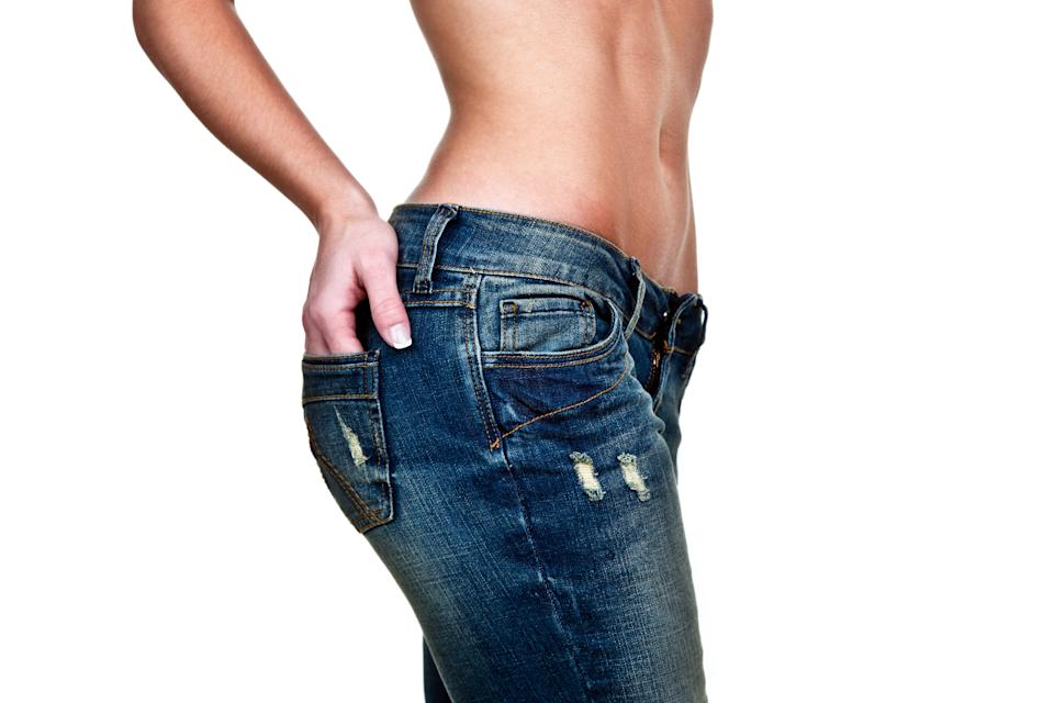 Storing weight around your hips and thighs could bode well for your health. [Photo: Getty]