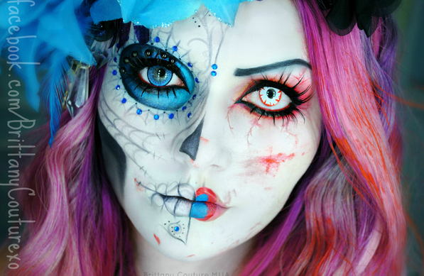Halloween Makeup - colored contacts