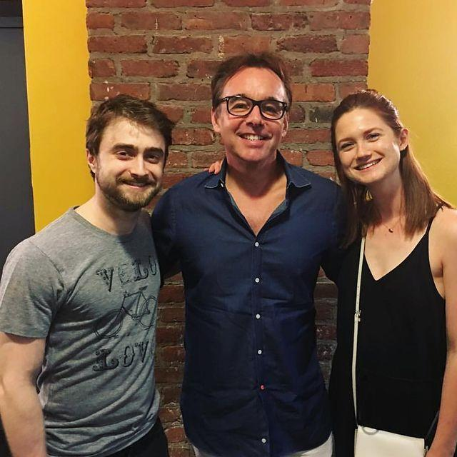 """<p>Eventually married couple Harry Potter and Ginny Weasley's real life counterparts were photographed together in July 2016 when Wright supported Radcliffe in the theatre show Privacy. </p><p><a href=""""https://www.instagram.com/p/BIJkK-rgOu9/"""" rel=""""nofollow noopener"""" target=""""_blank"""" data-ylk=""""slk:See the original post on Instagram"""" class=""""link rapid-noclick-resp"""">See the original post on Instagram</a></p>"""