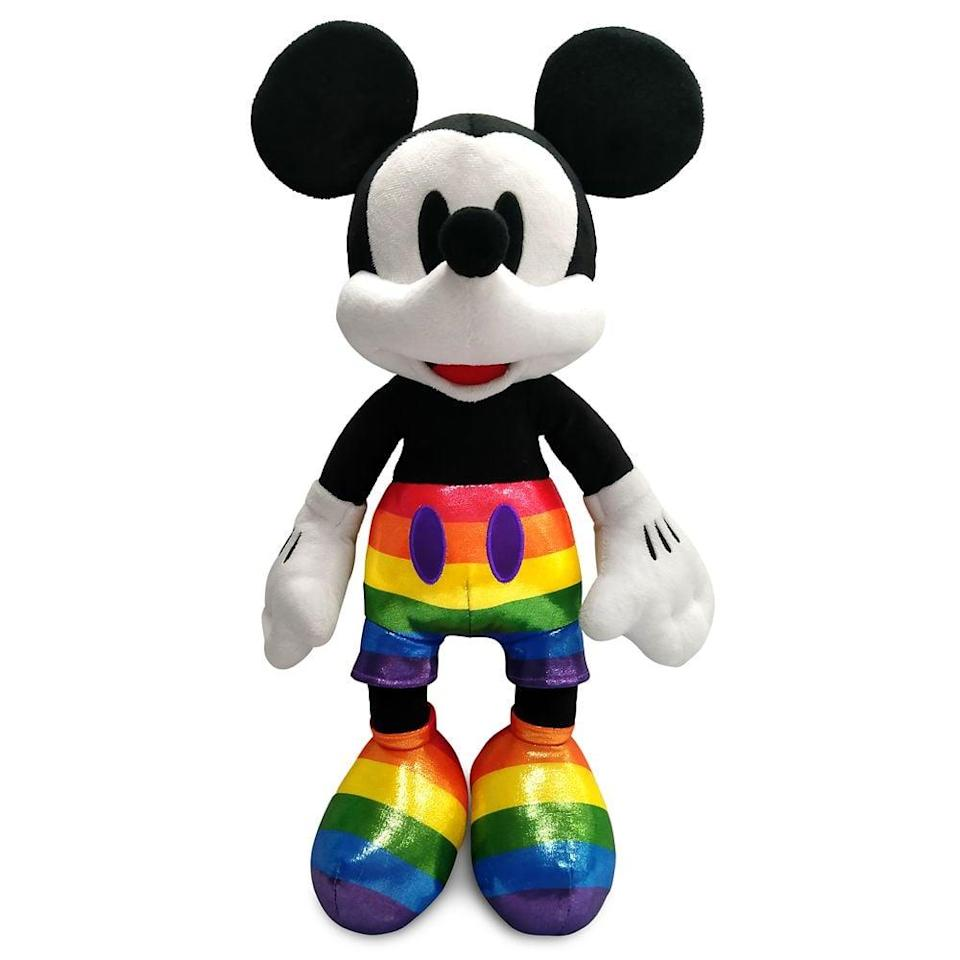 <p>We adore the rainbow shorts and shoes on the <span>Mickey Mouse Plush</span> ($25). </p>
