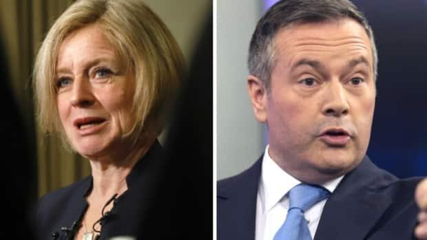 Alberta NDP Leader Rachel Notley, left, would be more likely to actually consider implementing proportional representation than Premier Jason Kenney, right, who has expressed support for it in the past, according to Max Fawcett. (Canadian Press  - image credit)