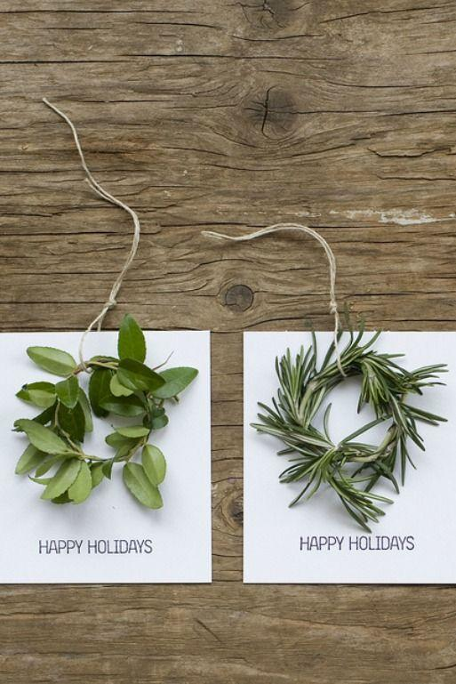"""<p>Use myrtle, rosemary, boxwood, and other earthy elements to craft these elegant cards.</p><p><strong>Get the tutorial at <a href=""""http://www.frolic-blog.com/2011/11/miniwreathholidaycards/"""" rel=""""nofollow noopener"""" target=""""_blank"""" data-ylk=""""slk:Frolic"""" class=""""link rapid-noclick-resp"""">Frolic</a>.</strong></p><p><a class=""""link rapid-noclick-resp"""" href=""""https://www.amazon.com/Shintop-Industrial-Materials-Gardening-Applications/dp/B00YWNLYAQ/?tag=syn-yahoo-20&ascsubtag=%5Bartid%7C10050.g.3872%5Bsrc%7Cyahoo-us"""" rel=""""nofollow noopener"""" target=""""_blank"""" data-ylk=""""slk:SHOP JUTE TWINE"""">SHOP JUTE TWINE</a></p>"""