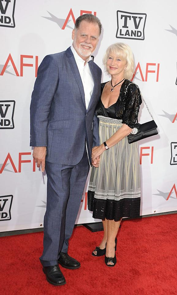 "<a href=""http://movies.yahoo.com/movie/contributor/1800014104"">Taylor Hackford</a> and <a href=""http://movies.yahoo.com/movie/contributor/1800011130"">Helen Mirren</a> attend the 38th Annual Lifetime Achievement Award Honoring Mike Nichols at Sony Pictures Studios on June 10, 2010 in Culver City, California."