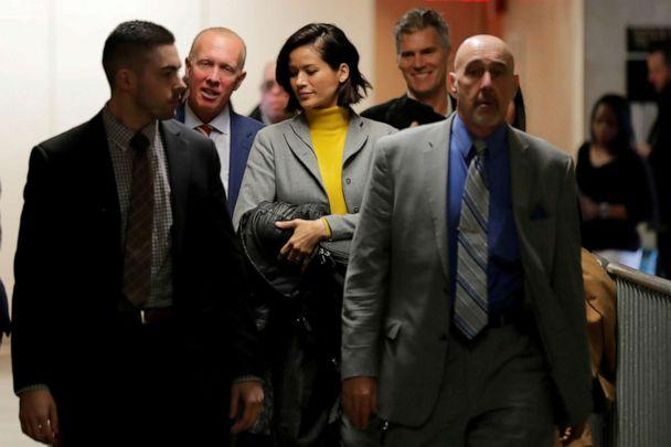 PHOTO: Tarale Wulff, witness in the trial of film producer Harvey Weinstein returns to court following a break in New York State Supreme Court in Manhattan, Jan. 29, 2020. (Lucas Jackson/Reuters)