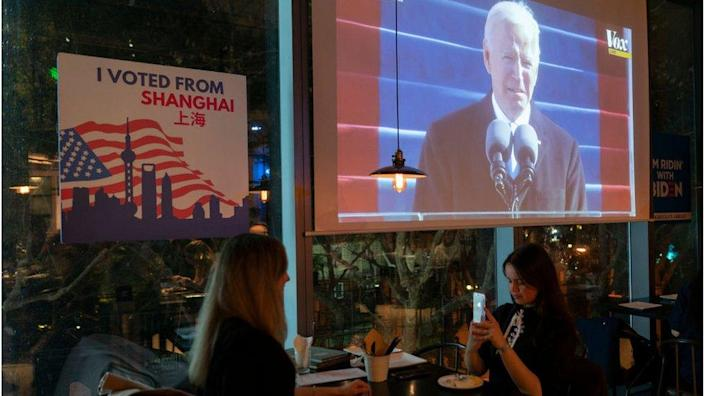 Americans in Shanghai watched Biden's inauguration in January