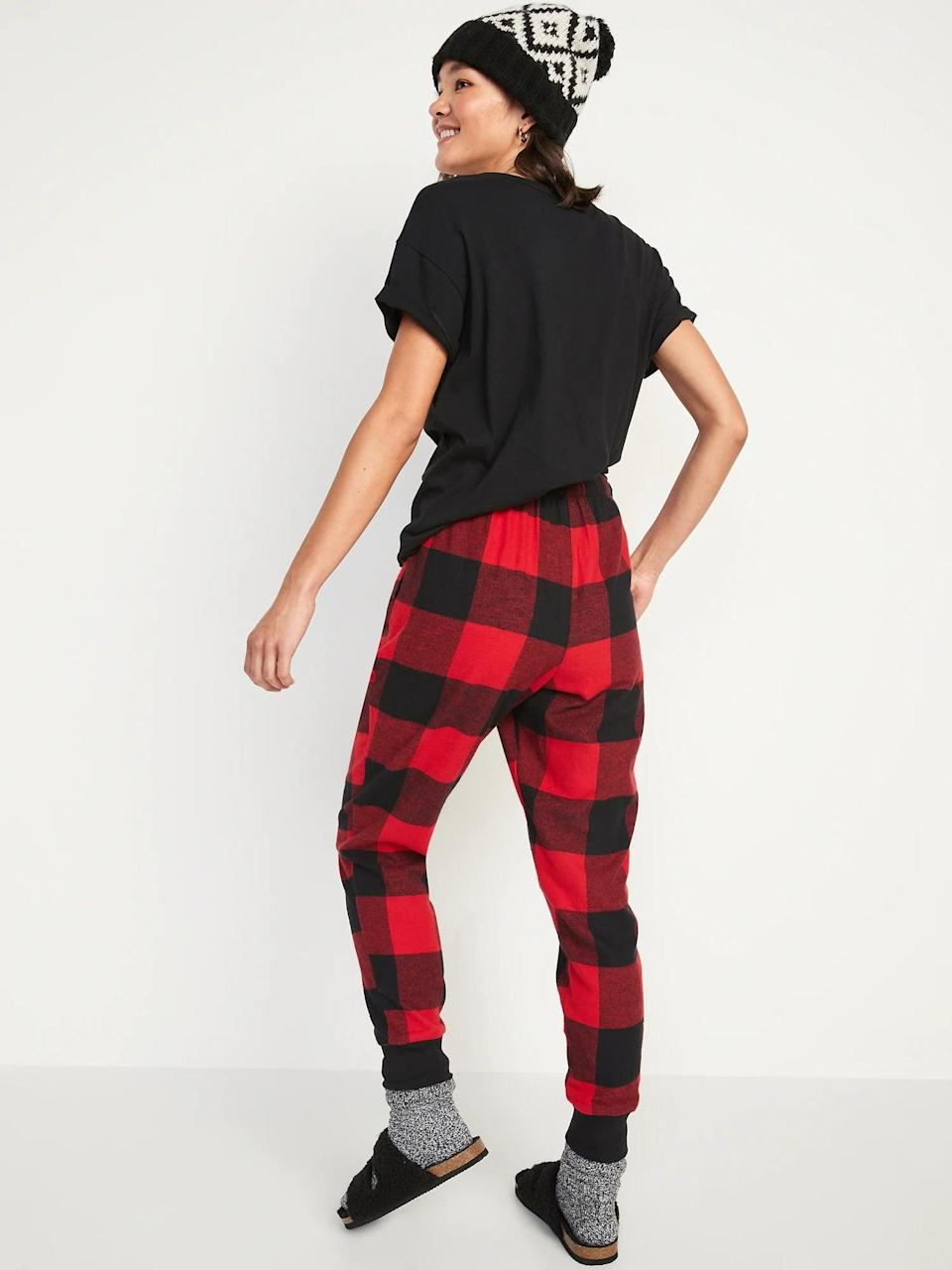 <p>It's not too early to nab a pair of these <span>Old Navy Matching Printed Flannel Jogger Pajama Pants</span> ($20) to wear all winter long, especially since there are <span>options for the entire family already in stock</span>, too.</p>