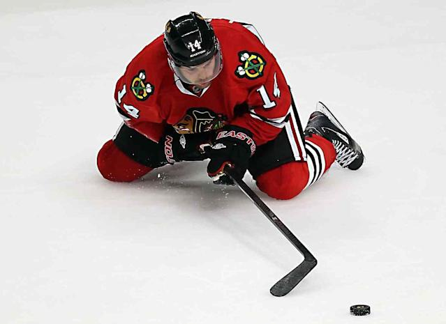 <p>The 2013 Hobey Baker Award winner arrived in Chicago with a reputation as an elite playmaker but he lasted just two games with the Blackhawks before being relegated to the AHL. Leblanc spent two undistinguished seasons in Rockford before moving on to the German League.</p>