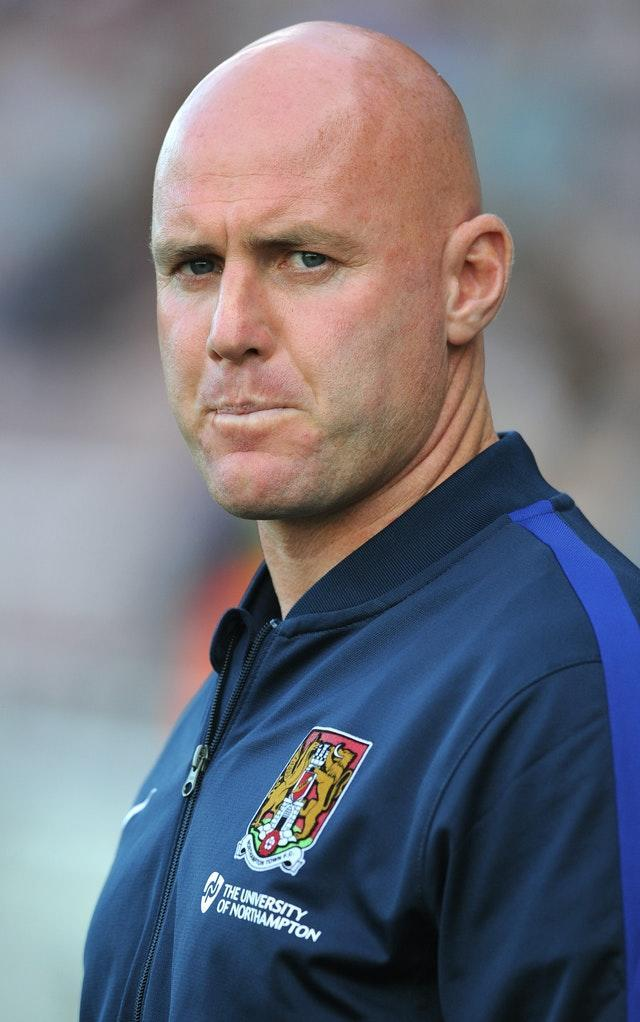 Robert Page, seen here during his time as Northampton manager, will take charge of Wales for their upcoming matches