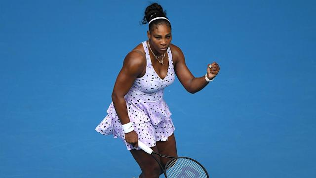 Serena Williams opened her Australian Open campaign with a memorable victory in Melbourne.