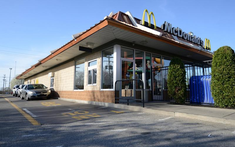 The McDonald's restaurant where a member of staff recognized the car of fugitive Steve Stephens - REUTERS