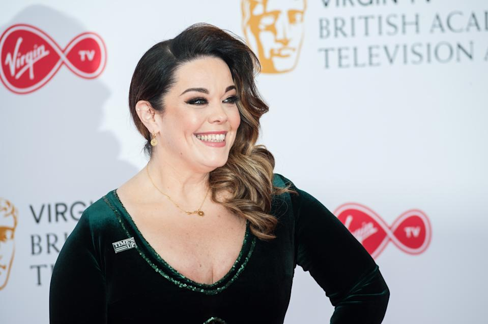 Lisa Riley attends the Virgin TV British Academy Television Awards ceremony at the Royal Festival Hall on May 13, 2018 in London, United Kingdom. (Photo credit should read Wiktor Szymanowicz / Barcroft Media via Getty Images)