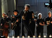 <p>Bob Dylan performs onstage during The 53rd Annual Grammy Awards at Staples Center on February 13, 2011 in Los Angeles.</p>
