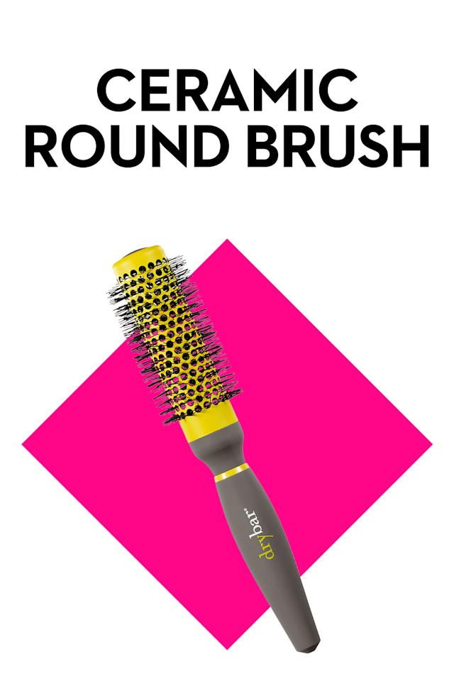 """<p><em>Shown: Drybar Half Pint Small Round Brush (<a rel=""""nofollow"""" href=""""http://www.sephora.com/half-pint-small-round-brush-P378167?skuId=1506484"""">$36, sephora.com</a>)</em></p><p>If you want <a rel=""""nofollow"""" href=""""http://www.goodhousekeeping.com/beauty/hair/a32923/how-to-curl-your-hair-quickly/"""">big curls</a> but would prefer to skip the iron, Toth recommends using a ceramic round brush with synthetic bristles: """"While the synthetic bristles lightly detangle and wrap the hair around the brush, the heated ceramic barrel actually molds the hair into a shiny, bouncy curl."""" No curling irons and <em>way</em> less fuss.</p>"""