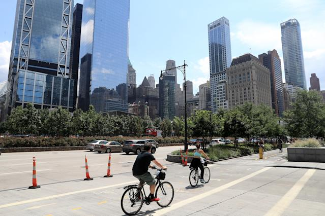 <p>The World Trade Center buildings and National September 11 Memorial & Museum are seen along West Street on Aug. 19, 2017. (Photo: Gordon Donovan/Yahoo News) </p>