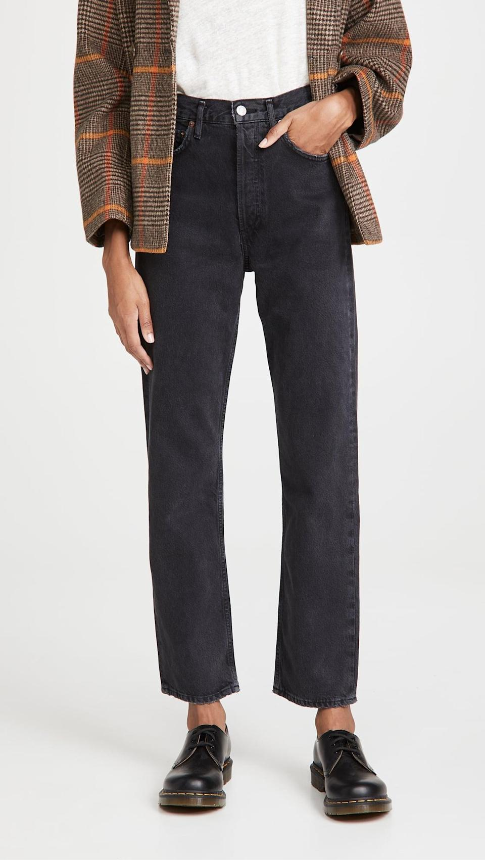 <p>The cool <span>AGOLDE The 90's Pinch Waist Jeans</span> ($178) have a vintage style to them that we love. The soft material is ultracomfortable too.</p>