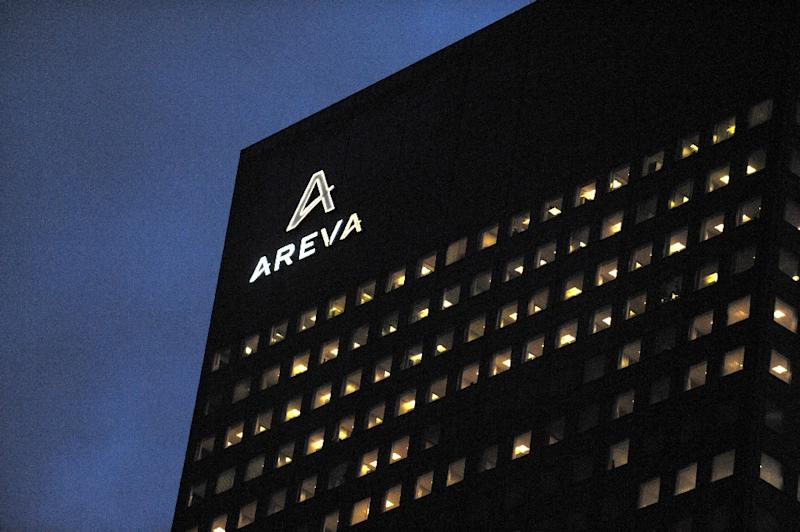 """Only a month ago, Hollande's office said the government would spend """"as much as necessary"""" to save troubled nuclear group Areva, which recorded a record net loss of 4.8 billion euros last year (AFP Photo/Eric Piermont)"""