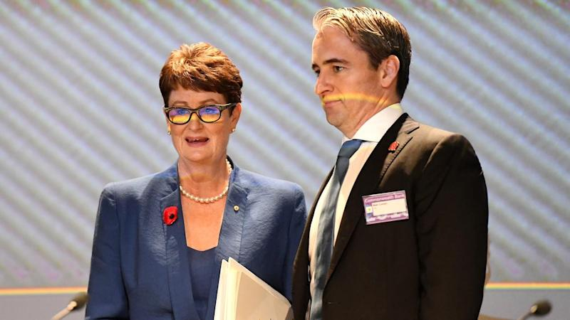 CBA CEO Matt Comyn and chair Catherine Livingstone say the bank is listening to customer complaints