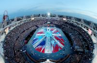 A general view of the stadium during the Closing Ceremony on Day 16 of the London 2012 Olympic Games at Olympic Stadium on August 12, 2012 in London, England. (Photo by Rob Carr/Getty Images)