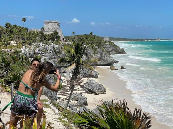Mexico's Tulum attracts tourists lured by its turquoise waters, Mayan ruins and the chance to party next to lush jungle and golden beaches