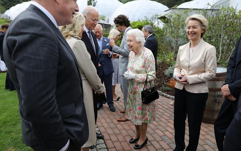 Her Majesty the Queen hosts a reception at Cornwall's Eden Project for G7 leaders on June 11 2021 - Jack Hill/The Times