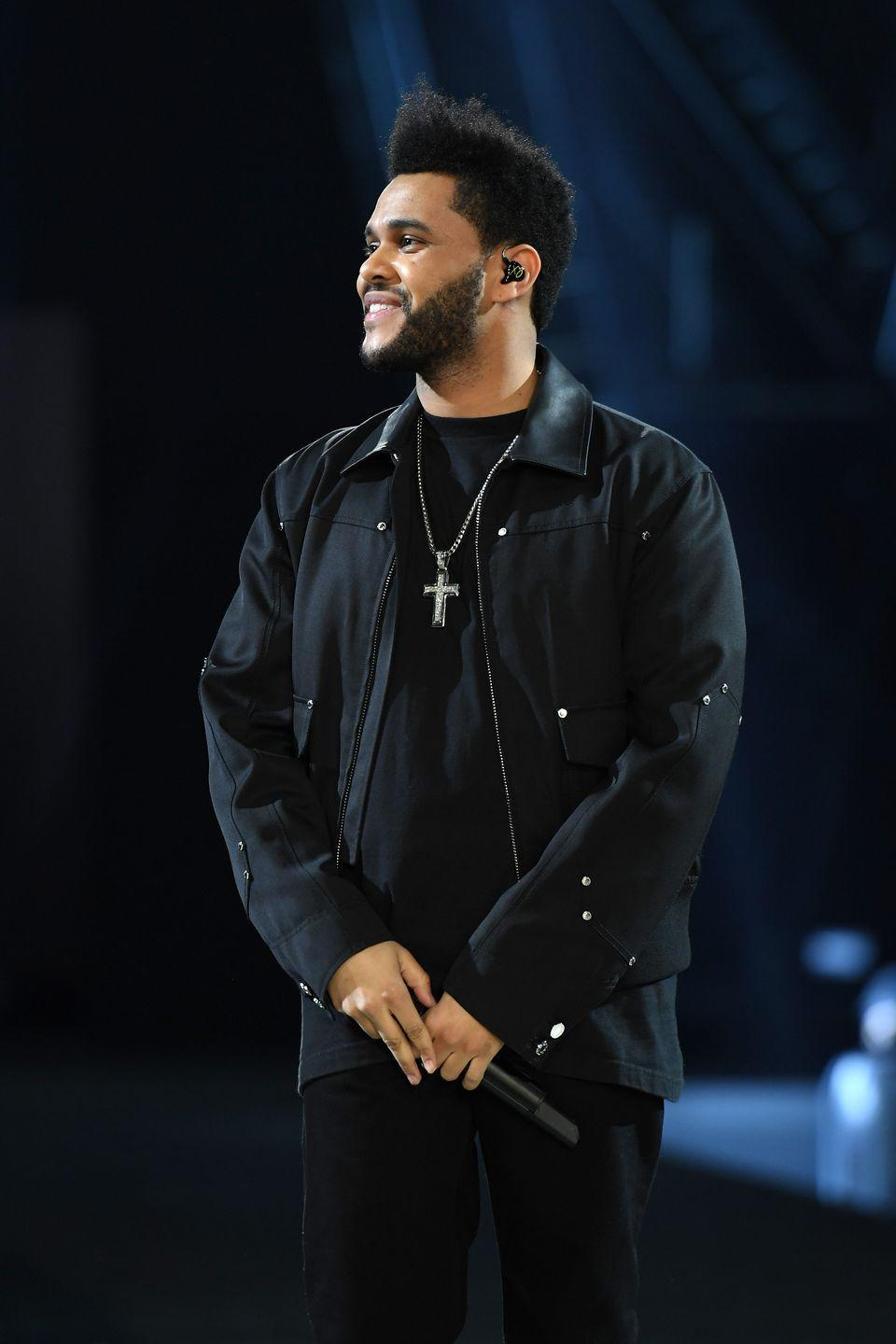 <p>The Weeknd added some volume to his new style, trimming the back of his hair shorter than the front. The result? A pompadour fade. </p>