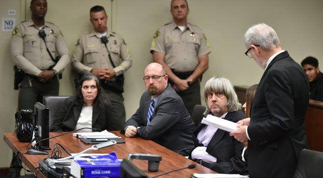 David and Louise Turpin fronted court and each face 94 years to life in prison if convicted. Photo: AAP