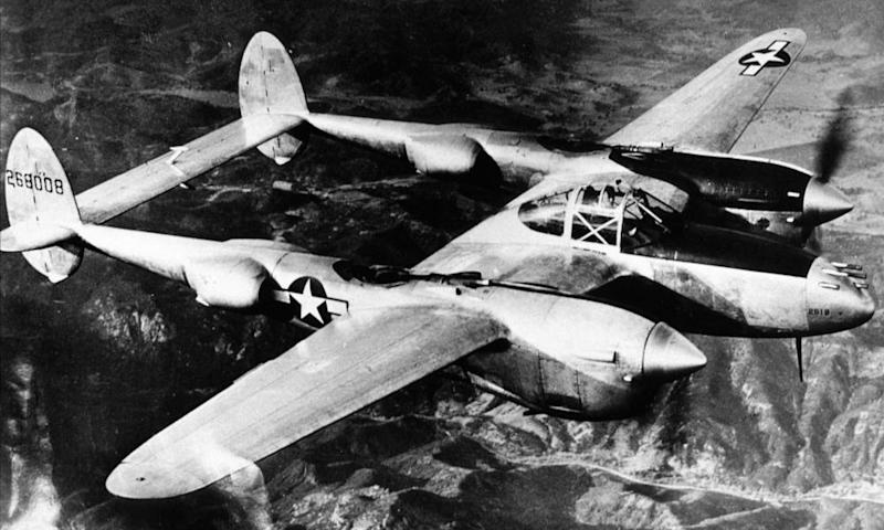 A Lockheed P-38 Lightning, though not the same one as in Wales, in its prime in 1943.