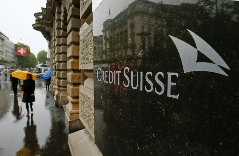 Swiss bank Credit Suisse logo is seen in front of its headquarters in Zurich