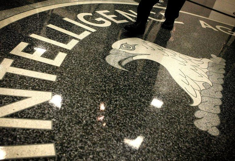 Seal of the Central Intelligence Agency is seen at the lobby of the CIA headquarters in McLean, on February 19, 2009