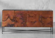 """<p>Arhaus was founded on the principle that furniture should be sustainably made and long-lasting—and those are values we can get behind. The result: beautiful pieces of furniture that also tell a story, like this <a href=""""https://go.skimresources.com?id=74968X1525087&xs=1&url=https%3A%2F%2Fwww.arhaus.com%2Ffurniture%2Fliving-room-furniture%2Ftv-stands-media-consoles%2Fcahlo-media-console%2F"""" rel=""""nofollow noopener"""" target=""""_blank"""" data-ylk=""""slk:Cahlo Media Console"""" class=""""link rapid-noclick-resp"""">Cahlo Media Console</a>, which is made with recycled copper by artisans in Mexico. </p><p><a class=""""link rapid-noclick-resp"""" href=""""https://go.skimresources.com?id=74968X1525087&xs=1&url=https%3A%2F%2Fwww.arhaus.com%2F"""" rel=""""nofollow noopener"""" target=""""_blank"""" data-ylk=""""slk:Shop"""">Shop</a></p>"""