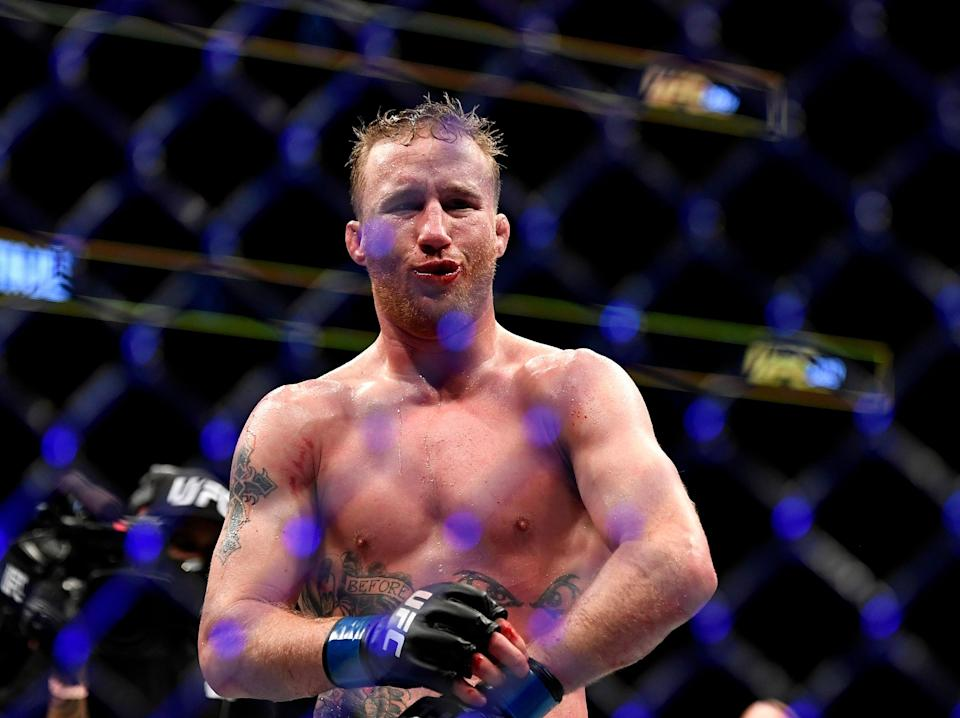 UFC interim lightweight champion Justin Gaethje has a record of 22-2 (19 KOs) (Getty Images)