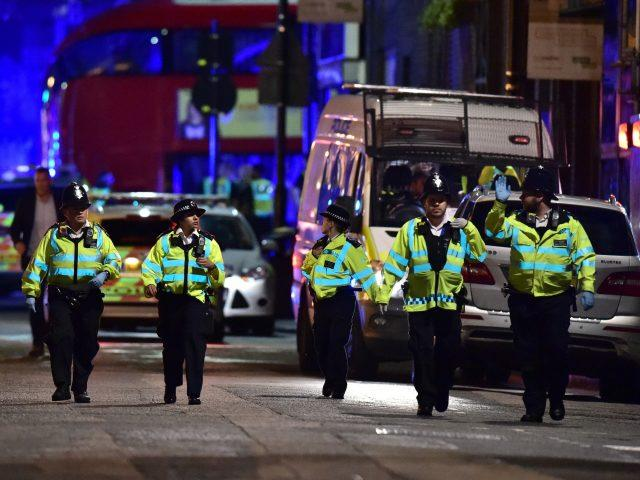 Police on Borough High Street following June's attack