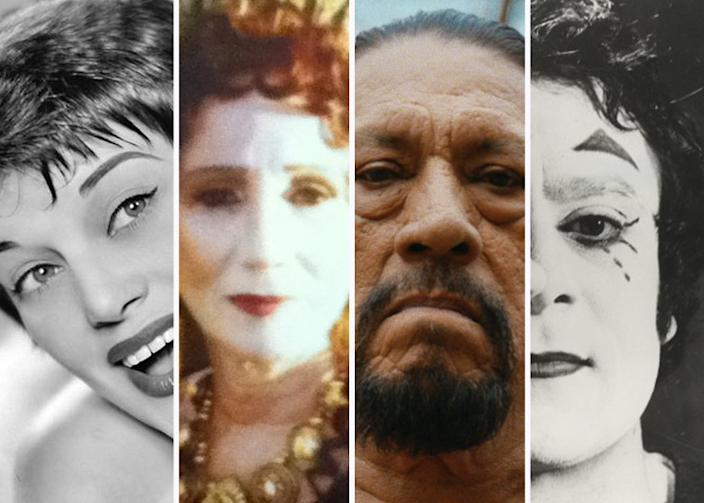 "Four of their own kinds: Very different performers from stage and screen are featured in four current documentaries. Pictured from left: Kaye Ballard, Olympia Dukakis, Danny Trejo, Moni Yakim. <span class=""copyright"">(Jim Dandy Films / Abramorama / Universal Pictures / Jerry Panzer)</span>"