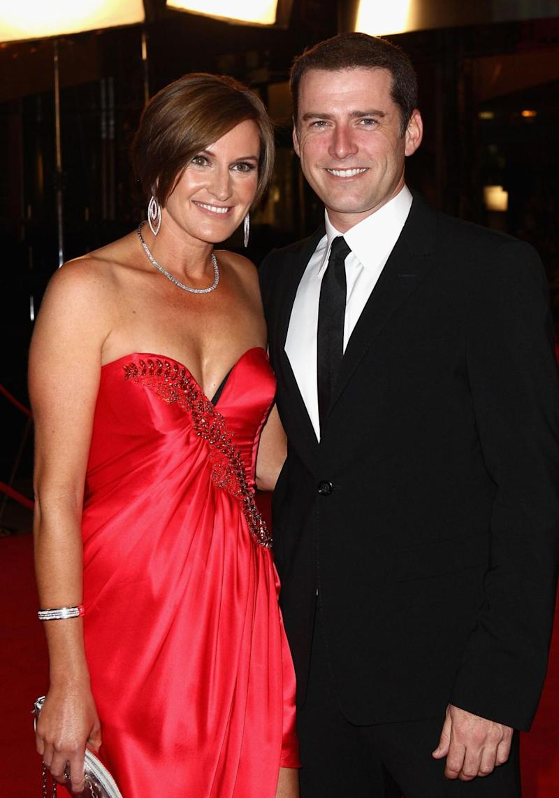 Karl and Cass (here at the 2011 Logies) split last year after 21 years of marriage. Source: Getty