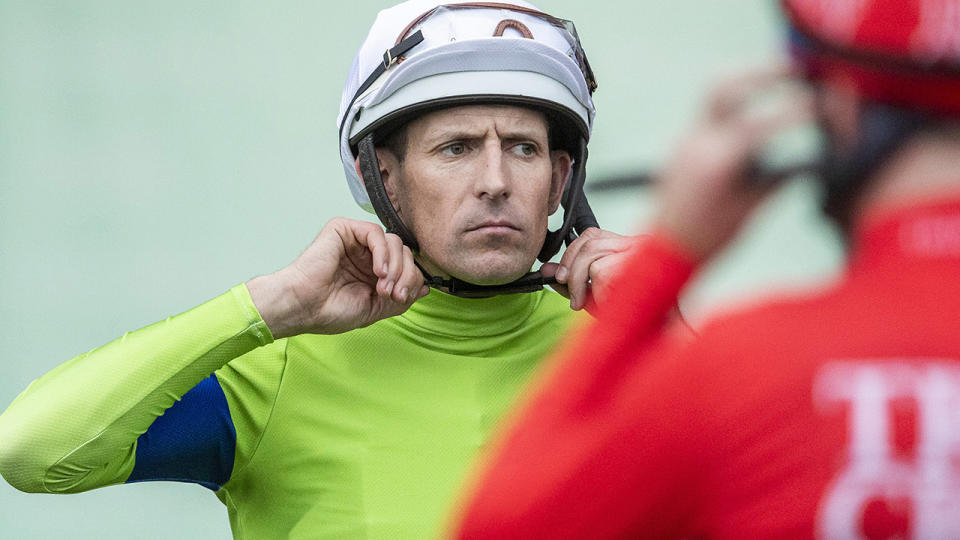 Hugh Bowman, pictured here during Sydney Racing at Rosehill Gardens.
