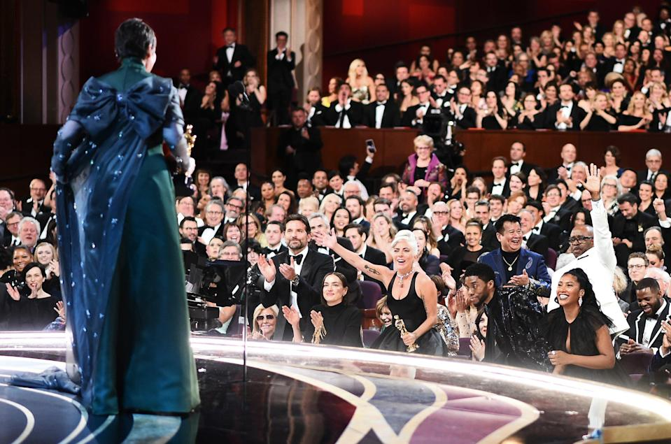 91st Academy Awards – Oscars Backstage – Hollywood, Los Angeles, California, U.S., February 24, 2019. Olivia Colman accepts her Best Actress award. Matt Petit/A.M.P.A.S./Handout via REUTERS.