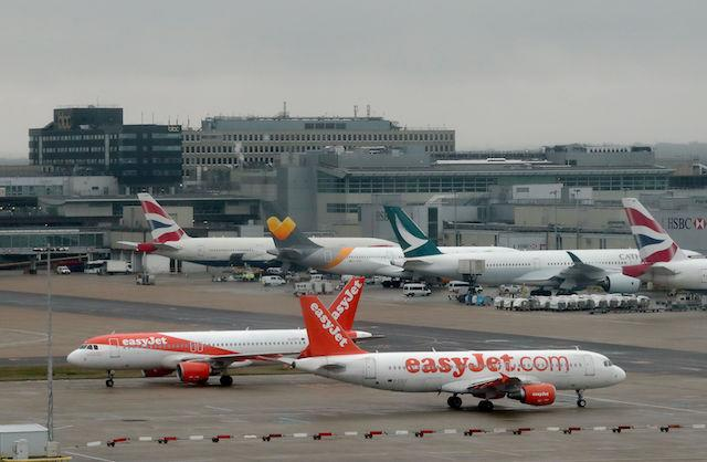File photo dated 04/03/17 of aeroplanes at Gatwick Airport, as holidaymakers trying to beat the winter blues by planning a European break could save money by delaying their booking, according to an online travel firm Kayak.