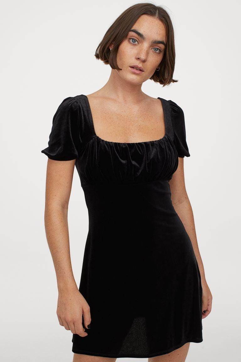 <p>We love a good little black dress like this <span>Puff-sleeved Dress</span> ($18).</p>