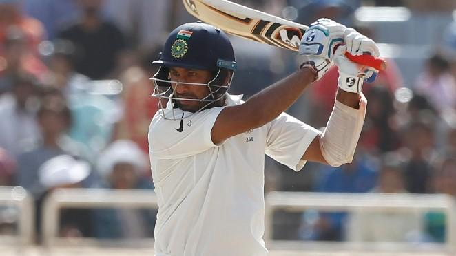 Pujara's Century Takes India to 360/6 on Day 3 of Ranchi Test