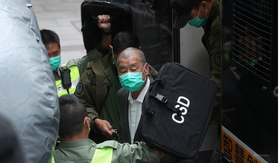 Paralegal Chan Tsz-wah is accused of conspiring with media tycoon Jimmy Lai (pictured) to request sanctions on Hong Kong and mainland China. Photo: Sam Tsang