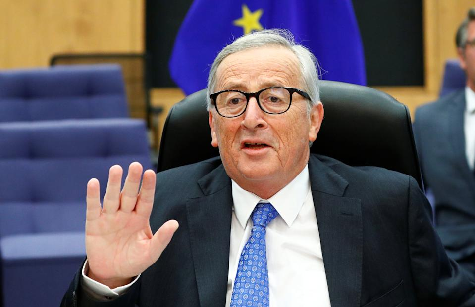 European Commission President Jean-Claude Juncker chairs a weekly college meeting of the EU executive in Brussels, Belgium September 11, 2019. REUTERS/Francois Lenoir