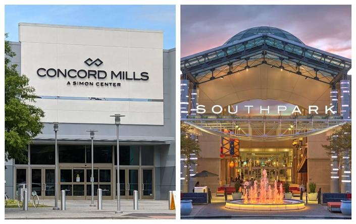 Concord Mills and SouthPark malls in the Charlotte area, as well as Charlotte Premium Outlets, have new stores and more planned, property mall manager Simon said.