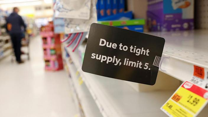 A Long Island, N.Y., supermarket in the wake of the coronavirus epidemic. (Shannon Stapleton/Reuters)