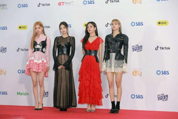PHOTO: Members of South Korean girl group BlackPink attend the SBS Singing Competition, Dec. 25, 2018, in Seoul. (VCG via Getty Images)