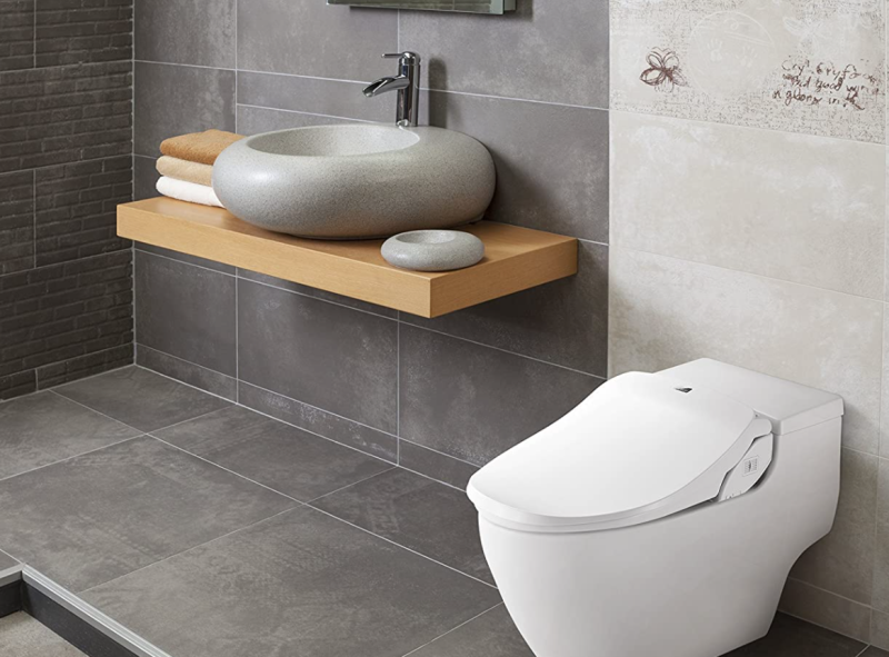 Treat your bum! This Bio Bidet smart toilet seat is heated! (Photo: Amazon)