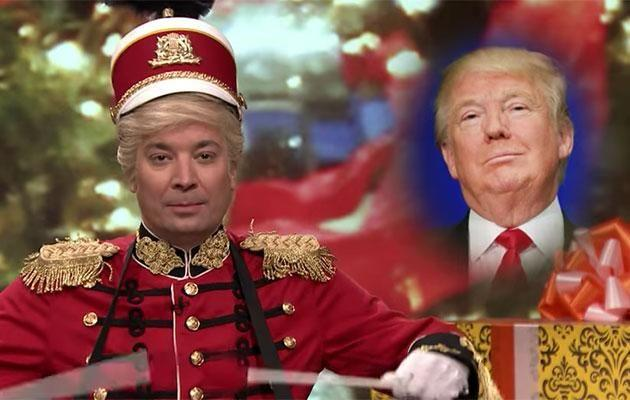 The host clearly thinks Trump deserves a bag of coal this Christmas! Source: The Tonight Show with Jimmy Fallon