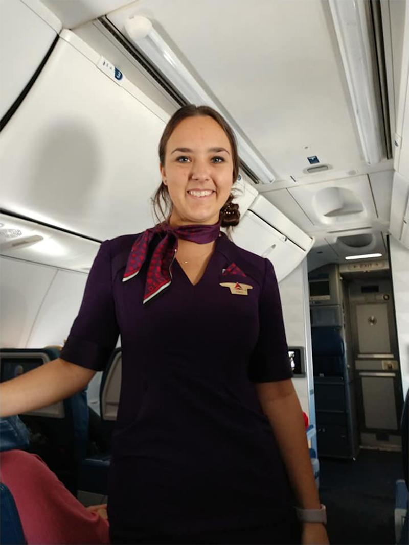 Christmas reunion: Flight attendant Pierce Vaughan (pictured) worked on Christmas day.