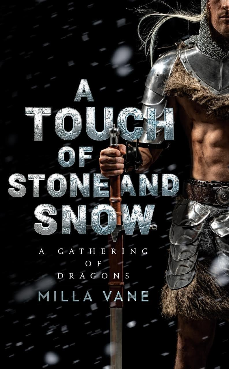The final result, the cover of A Touch of Stone and Snow